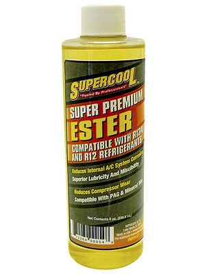 Supercool Polyol Ester Oil Lubricant 8oz for R-134a Air Con Refrigerant AC E7