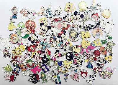 New Lot Mixed Cartoon Disney DIY Metal Charms Jewelry Making pendants Gifts