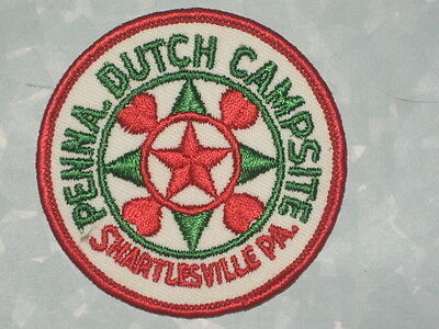 "Penna. Dutch Campsite Patch - Shartlesville, PA - 3"" x 3"""
