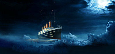 HD Prints oil painting Canvas art for living room (No stretch) Titanic iceberg