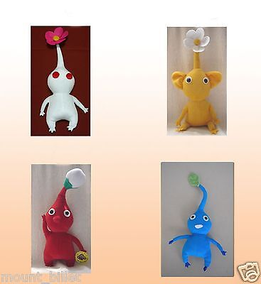 "Handmade 12""  PIKMIN 2 Plush Doll Collection 4 dolls Great Christmas X'mas Gift"