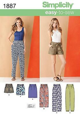 Simplicity Sewing Pattern Misses' Pants Shorts Skirt 2 Lengths Size 8 - 24 1887