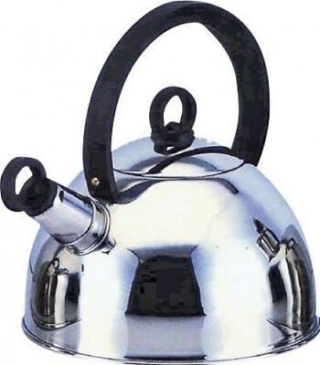 Quest - Caravan/Motorhome/Camping Whistle Kettle (2Litre) - Stainless Steel