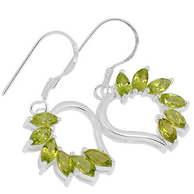 Peridot 925 Sterling Silver Earrings Jewelry E2202P