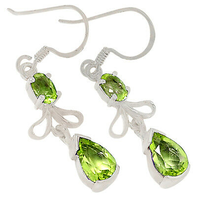 Peridot 925 Sterling Silver Earrings Jewelry E2183P