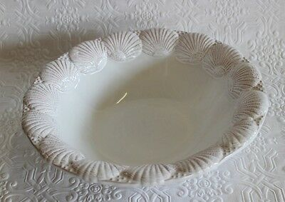 Vintage Clam Shell Border Large Bowl Portugal Pottery Ceramic Centerpiece Dish
