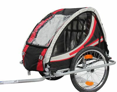 Bike child trailer Bicycle Red Loon RB10003 with Suspension for 2 Children's