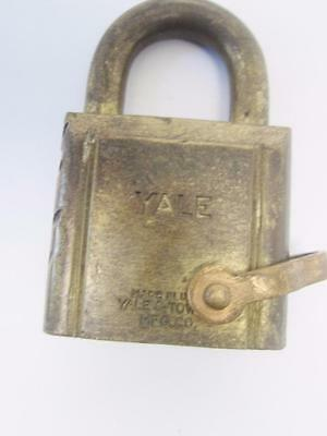 Yale Towne Vintage Paclock Brass Lock, High Grade Pin Tumbler,Chain Ring,Antique