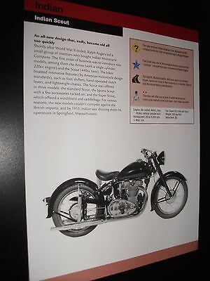CLASSIC ~ Indian Scout Motorcycle Bike Print Article Fact Sheet!