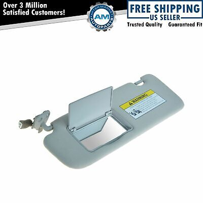 OEM 85201-0A750-QSQH Sun Visor With Lighted Mirror Gray LH Left for 06-08 Sonata