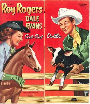 Vintge Uncut 1953 Roy Rogers Dale Paper Dolls ~Nostalgic Hd Laser Reproduction