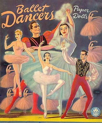 Vintage Uncut 1954 Ballet Dancers Paper Dolls ~Hd Laser Reproduction~Lo Pr~Hi