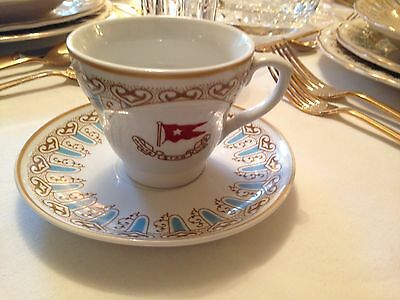 White Star Line Titanic First Class  Wisteria Pattern Cup & Saucer