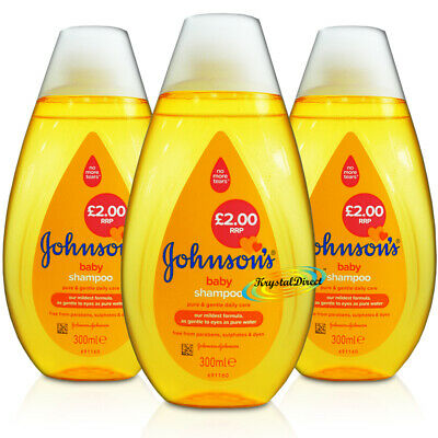 3x Johnsons Baby No More Tears Shampoo 300ml
