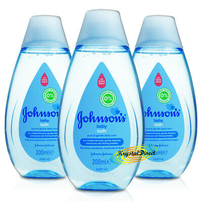 3x Johnsons Baby Bath Liquid 200ml Everyday Gentle Cleansing