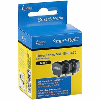 iColor Smart-Refill STARTER-Kit für Canon PG-510/512