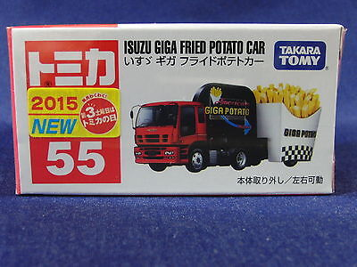 55 , ISUZU GIGA FRIED POTATO CAR , Takara Tomy car, Tomica Diecast vehicle, NEW