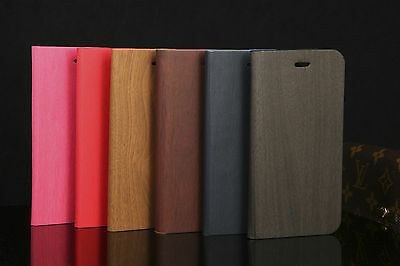 NEW WOODEN LEATHER WALLET FLIP CASE FOR iPhone 6 6S AND iPhone 6 Plus 6S Plus