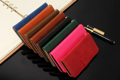 New GENUINE 8 COLOUR LEATHER WALLET FLIP CASE FOR iPhone 6 6 PLUS
