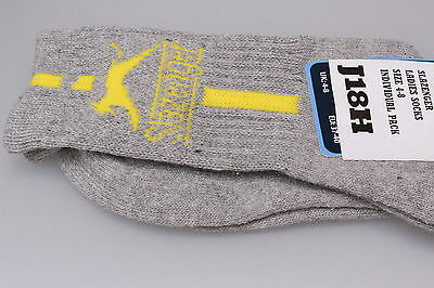 Individual Pair Ladies Slazenger Casual  Ankle Socks Grey/Yellow 4-8 Cotton Mix