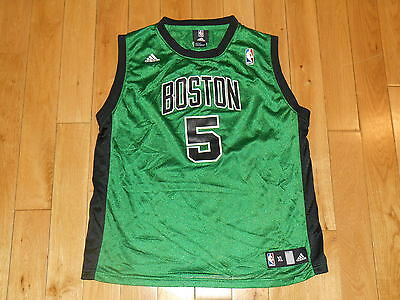 newest 098b9 69c4d ADIDAS KEVIN GARNETT Alternate Green Blk BOSTON CELTICS Youth NBA Team  JERSEY XL