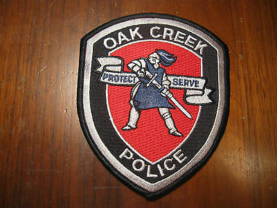 OAK CREEK WI POLICE PATCH (VERSION 2 WITH KNIGHT)