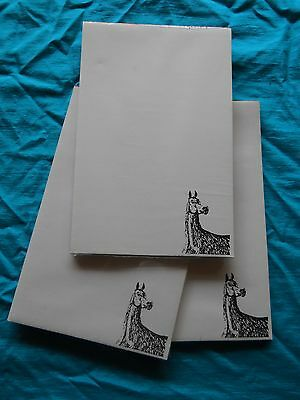 Arabian Horse Notepad 50 Sheets 8.5 x 5.5 New Black & White Drawing-3 pads