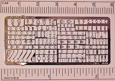 Photo Etched Sheet of 1:32 Model Horse Scale STABLEMATE BUCKLES - Silver-toned