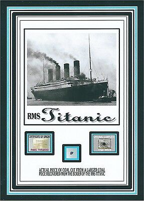 Actual COAL from THE TITANIC boilers, White Star line 1912 sinking genuine w/COA