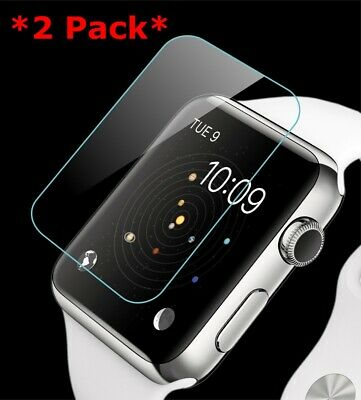 Premium Real Tempered Glass Screen Film Protector For Apple Watch 1/2/3 38 42mm