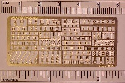 Photo Etched Sheet of 1:32 Model Horse Scale STABLEMATE BUCKLES - Brass