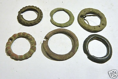 Set of 6 Ancient Bronze Fibulas (27f).