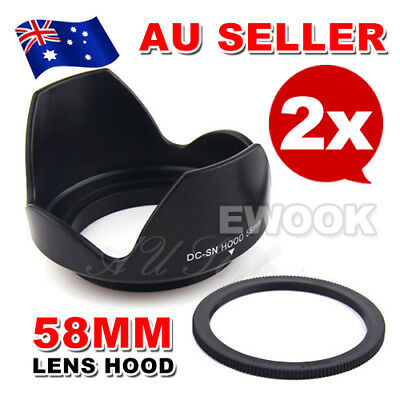 58mm Reversible Petal Flower Lens Hood Screw Mount For Canon Nikon Olympus