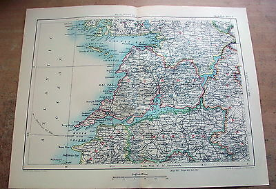 1894 Antique Map - CLARE & LIMERICK Ireland - Cassell & Co.