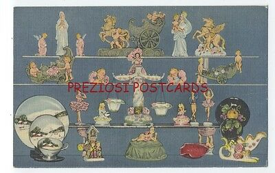 LINEN Ad Postcard - George Zoltan Lefton OCCUPIED JAPAN Imports CHICAGO IL 1940s