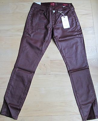 Lucky Brand Women's Size 0/25 Charlie Super Skinny Jeans 7WD10031 Shiny Brown
