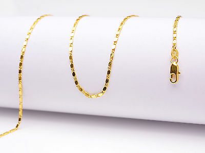 "Wholesale 1PCS 16-30"" 18K Yellow GOLD Filled Smooth CHAIN NECKLACES For Pendant"