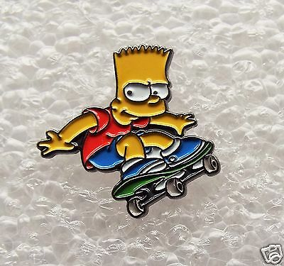 Bart Simpson on a Skateboard enamel pin / lapel badge The Simpson Family