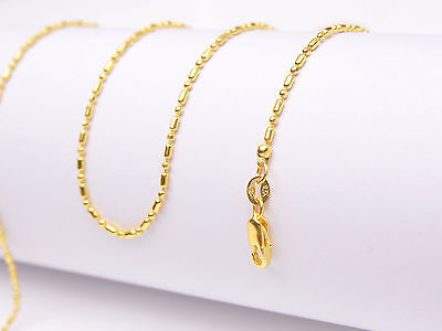 1PCS Wholesale 16-30inch 18K Yellow GOLD Filled BALL CHAIN NECKLACES For Pendant