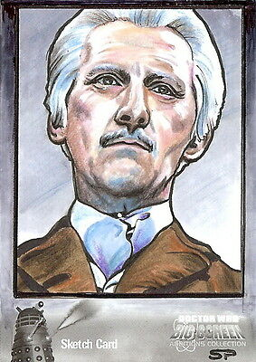 Dr Doctor Who Big Screen Additions Mono Sketch Card by Sean Pence /1