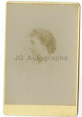 19th Century Fashion Cabinet Card Photograph Vintage Photography, New Haven CT