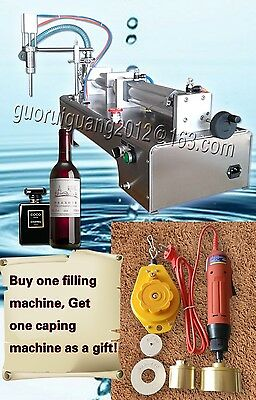 with one nozzle,1 tube,capper liquid filling machine for shampoo,oil,beverage