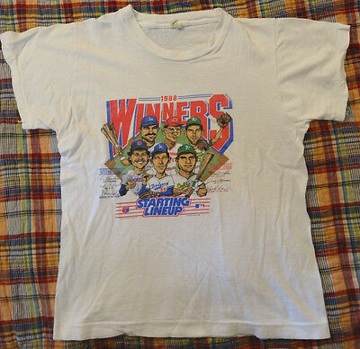 Vintage 1988 Salem Sportswear MLB Winners Starting Lineup shirt youth 14-16 RARE