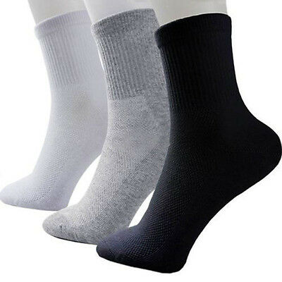 High Quality Men Cosy Cotton Sport Socks Black White Gray Popular 1 Pairs Summer