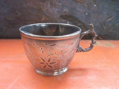 Old SilverPlate? Mustache Cup..Initials JEB..Needs Cleaning/Polishing
