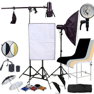 HWASTUDIO ® Studio Softbox FLASH Lighting kit 450 flash strobe Shooting Table