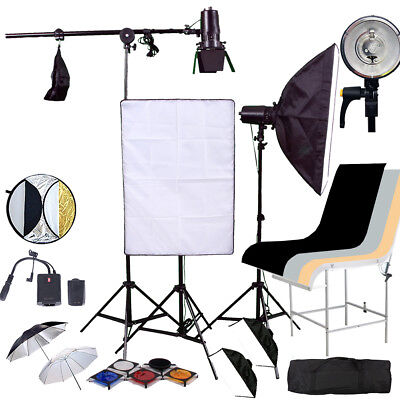 PRO Studio Softbox FLASH Lighting kit 450 flash PRODUCT strobe Shooting Table
