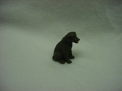 CHOCOLATE BROWN LAB puppy TiNY DOG Mini Figurine HAND PAINTED MINIATURE Labrador