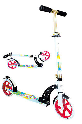 Authentic Sports Aluminium Racing Roller Scooter No Rules weiss rot gold 205mm