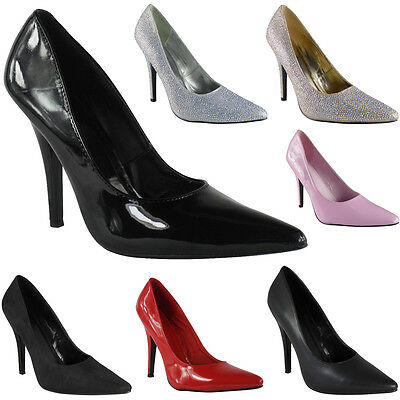 Womens Ladies High Stiletto Heel Fetish Going Out Pumps Shoes Large Sizes 9-12